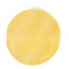 Glass Pressed Beads 8mm Flat Round Butter Yellow Matt